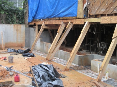 New Wall and Footings to Connect