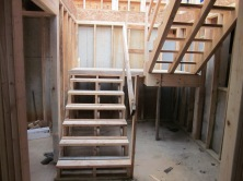 Stairs - landing in the new basement area
