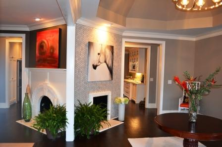 Foyer & Dining Room Fireplaces - After